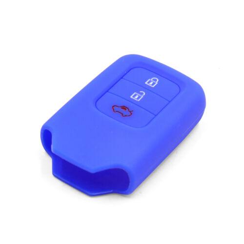 Silicona Azul Funda Protector de Llave de Coche 3 Botones Mando Remoto Cubierta