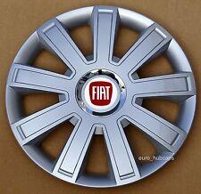 "Silver 15"" wheel trims, Hub Caps, Covers to fit Fiat Punto,Stilo (Quantity 4)"