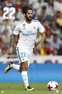 Isco SUPERSTAR Real Madrid 2018 La Liga Spanish Soccer Action POSTER ... 5d8d384ac7