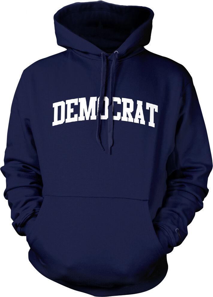 Democrat Political Party Vote Election Democratic Left bluee D Hoodie Sweatshirt