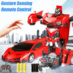 Transformation Robot Remote Control Car Gesture Sensing One Button Kids Toy Gift