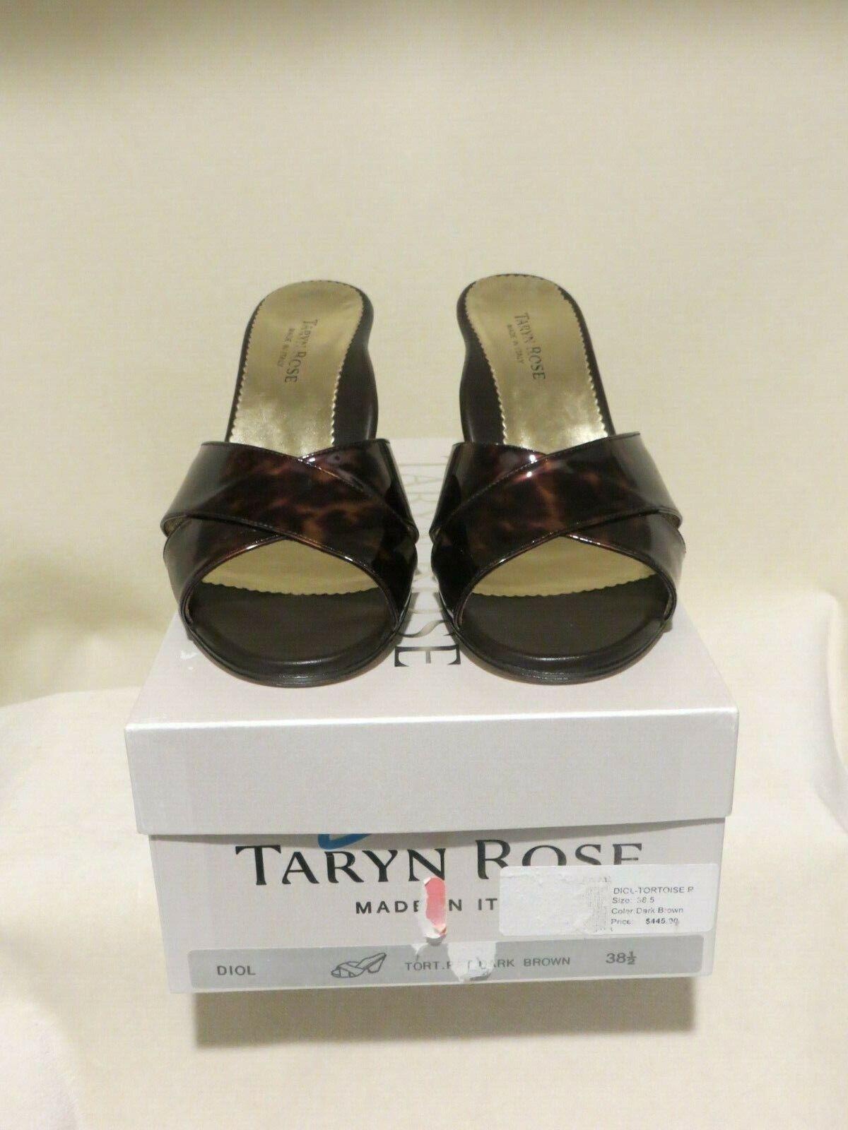NIB Taryn pink Diol Tortoise Slides in Size 38.5