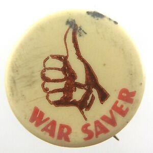 Vintage-WWII-War-Saver-Club-Thumbs-Up-Pinback-Button-Stanley-Toronto-N474