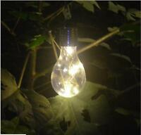 Vintage Solar Powered Glass Edison Bulb Led Light Outdoor Camping Hanging Lamp