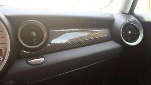 mini cooper carbon fiber dash interior trim 07 08 09 10 11 12 13 r55 r56 r57 jcw ebay