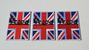 Vespa-Union-Jack-Mods-Aufnaeher-3Pcs-Badges-Scooter-Vintage-Aufbuegler