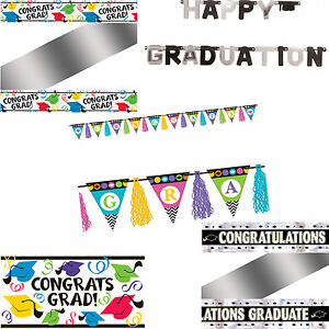 graduation congratulations congrats grad celebration banners party
