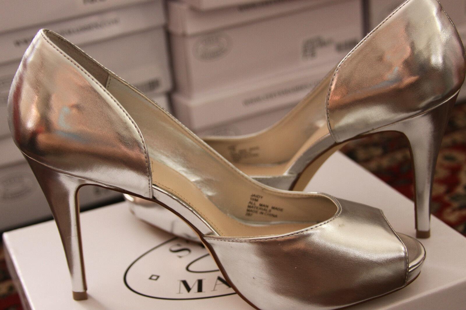 STEVE MADDEN JAIDY Silber Silber Silber PARIS OPEN TOE PUMP Größe 8.5M dfaee5
