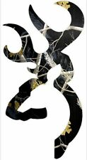 Browning Style Buck Realtree Black  Camo Camouflage Hunting Sticker