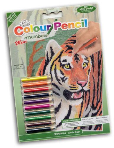 mit Buntstiften Malen nach Zahlen Mini TIGER
