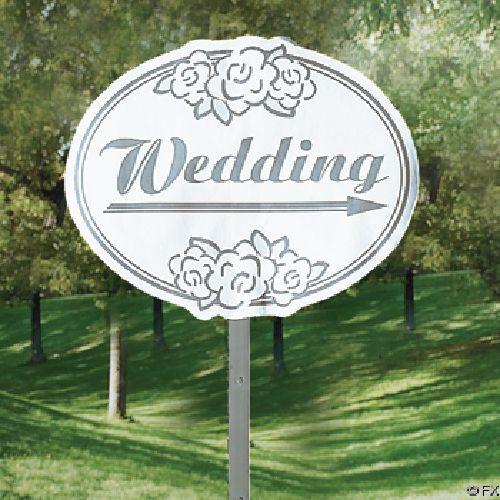 Wedding Yard Sign 10 Piece Decoration