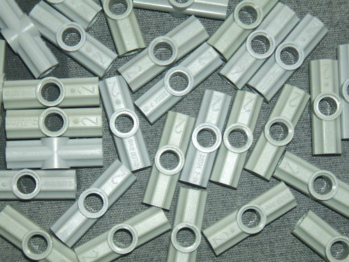 Type number 2 Lego 10 x Technic Axle /& Pin Angle Connector GREY #2