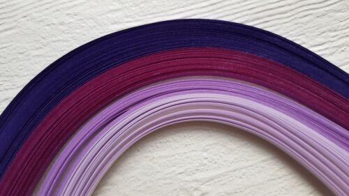 3 mm 5 mm 10 mm Large 100 découpis autocollante papier Bandes En Nuances De Violet