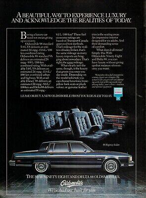 1981 OLDSMOBILE 98 Regency Sedan 1980   Magazine PRINT AD
