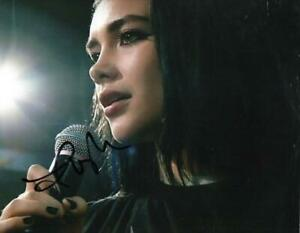 FLORENCE-PUGH-SIGNED-8X10-PHOTO-WWE-PAIGE-FIGHTING-WITH-MY-FAMILY-AUTO-COA-D