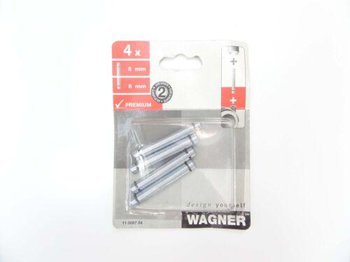 Wagner Premium Steckstift für Möbelrollen 8mm 8mm 4 Stück