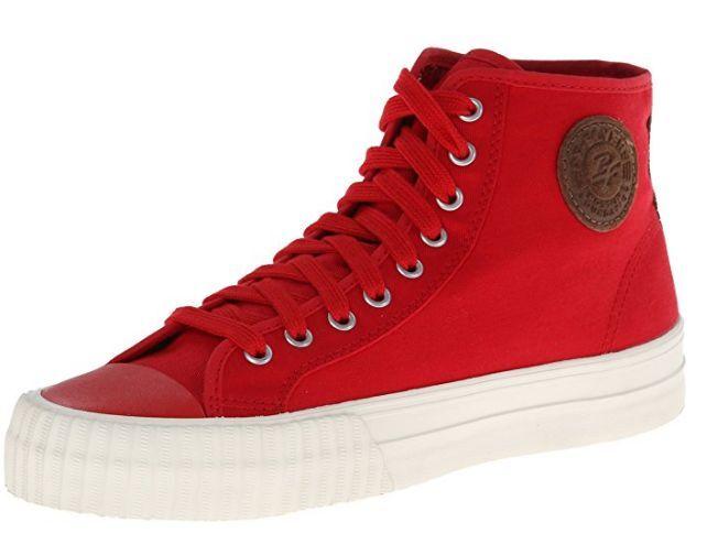 PF FLYERS PM14OH2H CENTER HI Mn's (M) Red/White Canvas Skate Scarpe