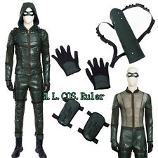 High-quality Green Arrow Season 5 Oliver Queen Cosplay Costume Christmas