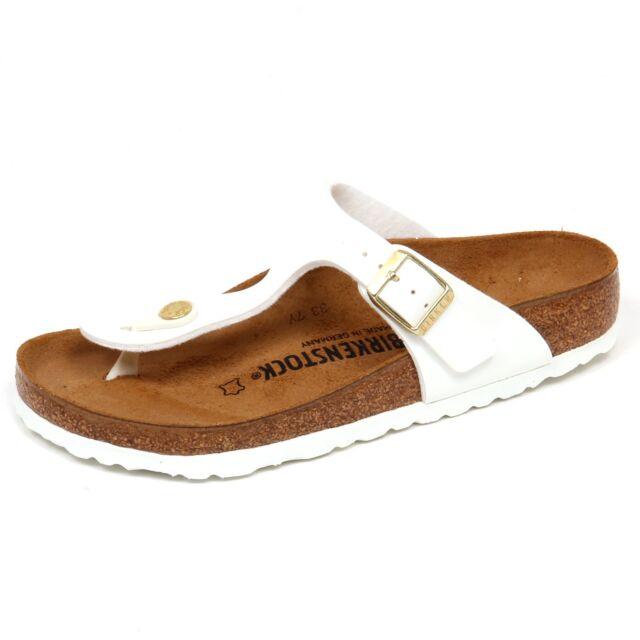 F2898 sandalo donna white BIRKENSTOCK GIZEH BS eco patent shoe woman  REGULAR fit 8be39785eec