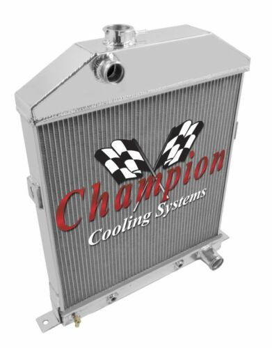 Row Racing Champion Radiator for 1942-1948 Ford Coupe Chevy Configuration