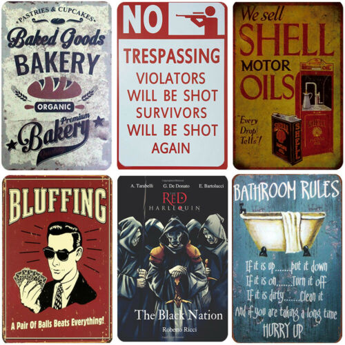 Retro Tin Sign Garage Metal Poster Bar Pub Plaques Customization Wall Decoration