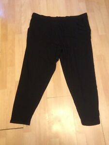 Ladies-UK-22-Capsule-Ultimate-Wardrobe-Staples-Black-Stretch-Lounging-Trousers