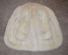 White Arctic Fox Fur Coat - 3/4 Length - Antonovich, XL, not mink, lynx, jacket