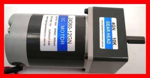 New Heavy Duty Low Noise 12 V DC Geared Motor 180 RPM 10K