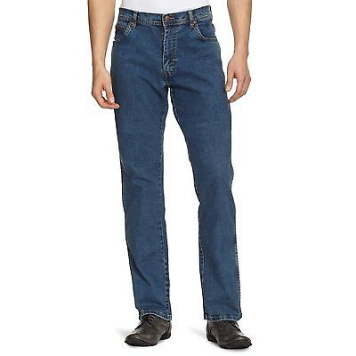 Wrangler Texas Stretch Regular Fit Denim Jeans New Men's Stonewash Blue