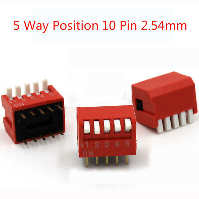 DIP Switch 8 Way PCB Mounted Piano key DIL