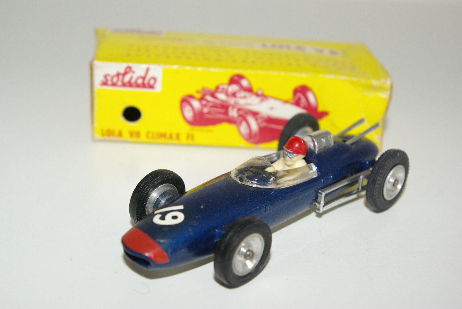 SOLIDO Série 100 135 Lola v8 Climax f1 F 1 FORMULA 1 RACING CAR VN Comme neuf en boîte