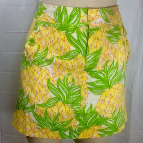 Lilly Pulitzer Pineapple Skirt 2 Tropical Fruit Pr