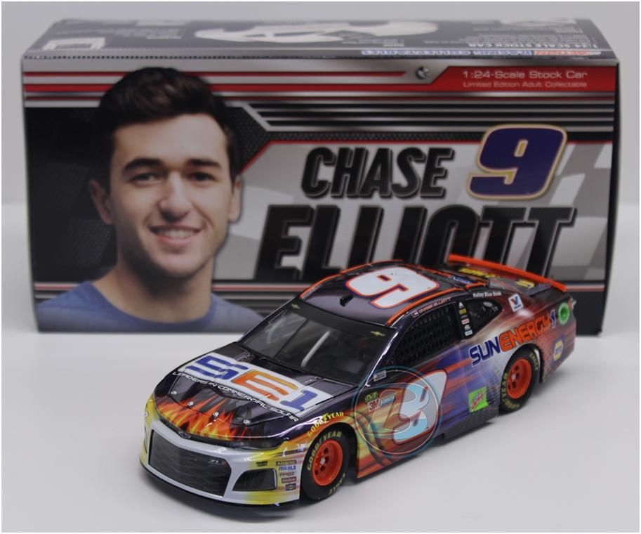 NASCAR 2018 CHASE ELLIOTT  9 SUN ENERGY ONE Couleur CHROME 1 24 DIECAST CAR