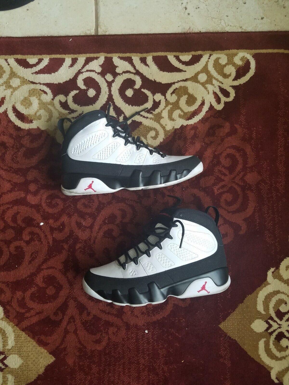 2016 Nike Air Jordan IX Retro 9 OG Space Jam White Black Red AUTHENTIC Size 9