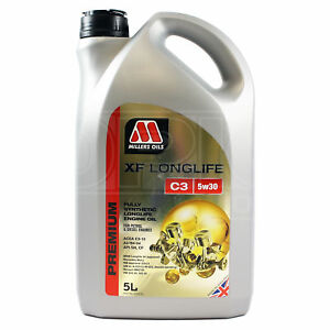 Millers-Oils-XF-Longlife-C3-5W-30-Fully-Synthetic-5W30-Engine-Oil-5-Litres-5L