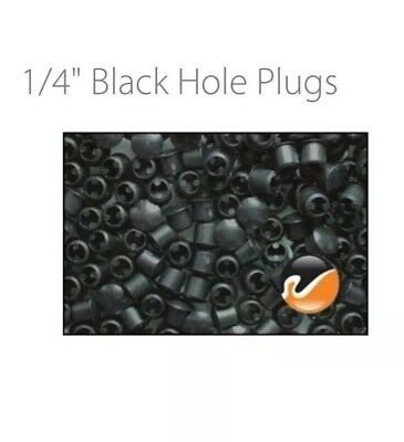 Cars Cabinets Patio Vinyl 25 Black Colored Plastic HOLE PLUGS 1//4 inch 8mm