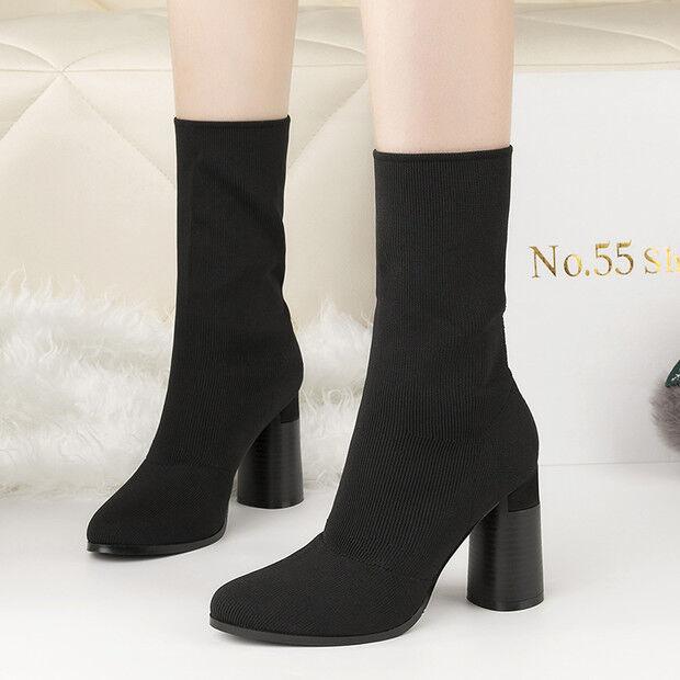 Los últimos zapatos de descuento para hombres y mujeres stivali stivaletti bassi  stiletto 9 cm caviglia nero  simil pelle 9559