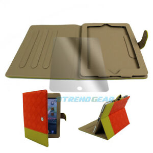 CASE-COVER-SCREEN-PROTECTOR-POUCH-PU-LEATHER-ORANGE-YELLOW-IPAD-2ND-3RD-4TH-GEN