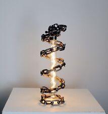 Handmade rustic industrial artistic lightsaber lamp steampunk vintage spiral