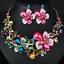 Women-Fashion-Bib-Choker-Chunk-Crystal-Statement-Necklace-Wedding-Jewelry-Set thumbnail 5