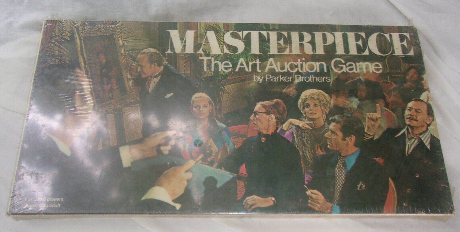 Vintage Masterpiece Art Auction Board Game 1970 Parker Brougehers Neuf Scellé
