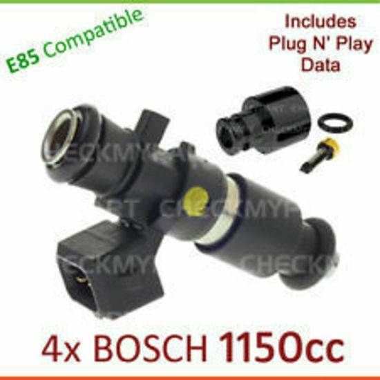 4x * BOSCH * 1150cc E85 Fuel Injector Set-up For Mitsubishi Lancer EVO 5 6 7 8 9