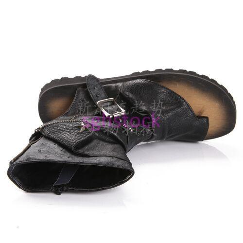 Men/'s Roman Bague Orteil Haut Top Spartiates Bottes Cuir Boucle Plage Chaussures