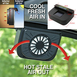 abs solar powered car window windshield auto air vent cooling fan system cooler ebay. Black Bedroom Furniture Sets. Home Design Ideas