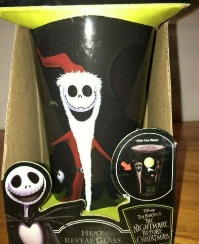 NIGHTMARE BEFORE CHRISTMAS HEAT REVEAL CHANGING GLASS   NEW