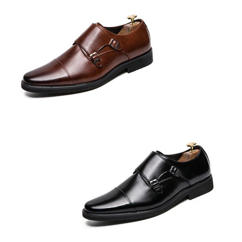 Mens Pointed Toe Flat Heel Slip On Business Formal Dress Wedding shoes Oxfords