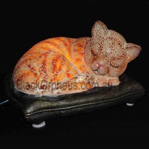 Cat Lamp, Table Lamp, Sleeping Cat Lamp.
