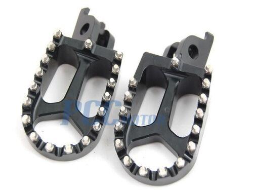 CNC RACING FOOTPEGS KAWASAKI KX250F KX450F YAMAHA RMZ250 BLACK H FP12