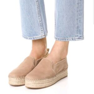 ac1e85b9b Sam Edelman Women's Carrin Platform Espadrille Slip-On Putty Suede ...