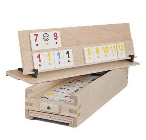 Vintage reedited Romanian original Rummy Medias board game popular in 1970-80s